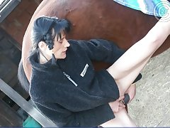 Beast farm girl loves to hot horsecock fuck action