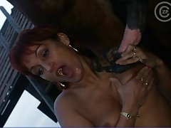 Redhead sluts licks n suck a large kitchen midden dig up