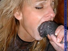 Sweet blonde sucking big horse cock be beneficial to warm cum